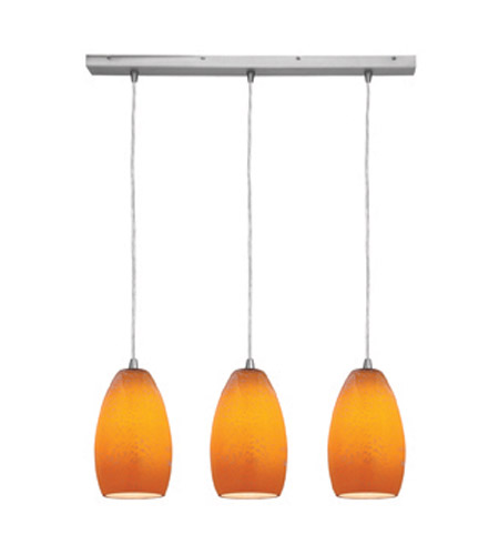 Access Lighting Inari Silk 3 Light Maxi Pendant in Brushed Steel 52612-BS/MYA photo