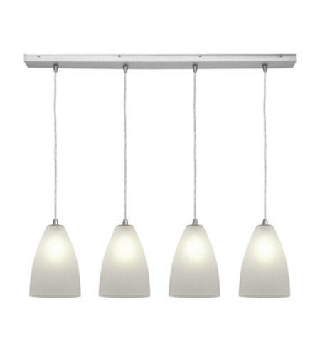 Access Lighting Tsuki 4 Light Maxi Pendant in Brushed Steel 52706-BS/RFR photo