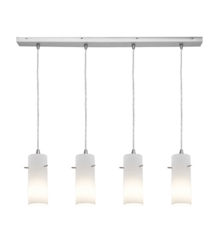 Access Lighting Inari Silk 4 Light Maxi Pendant in Brushed Steel 52730-BS/OPL photo