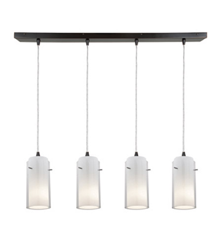 Access Lighting Glass in Glass 4 Light Maxi Pendant in Oil Rubbed Bronze 52733-ORB/CLOP photo