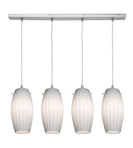 Access Lighting Fleur 4 Light Maxi Pendant in Brushed Steel 52776-BS/OPL photo