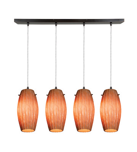 Access Lighting Fleur 4 Light Maxi Pendant in Oil Rubbed Bronze 52776-ORB/AMM photo