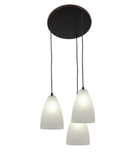 Access Lighting Tsuki 3 Light Maxi Pendant in Oil Rubbed Bronze 52806-ORB/RFR photo