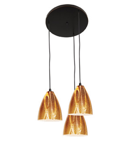 Access Lighting Safari 3 Light Maxi Pendant in Oil Rubbed Bronze 52825-ORB/AMZ photo