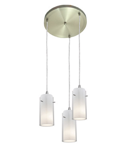 Access Lighting Glass in Glass 3 Light Maxi Pendant in Brushed Steel 52833-BS/CLOP photo