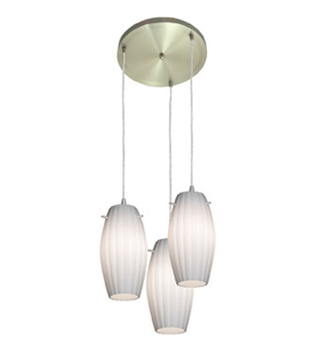 Access Lighting Fleur 3 Light Maxi Pendant in Brushed Steel 52876-BS/OPL photo