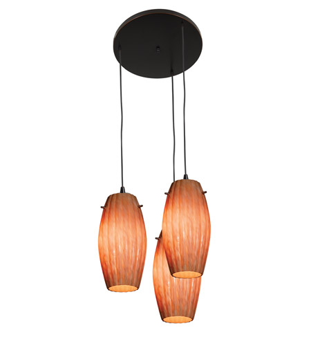 Access Lighting Fleur 3 Light Maxi Pendant in Oil Rubbed Bronze 52876-ORB/AMM photo