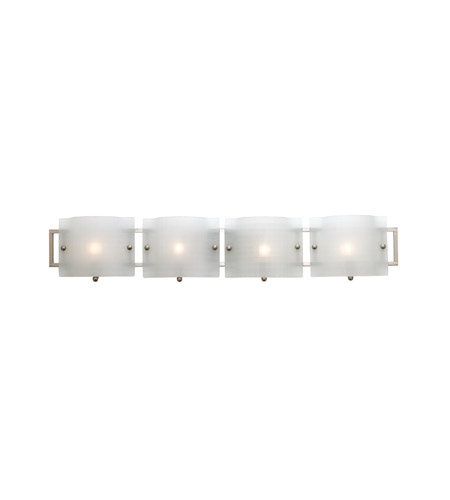 Access Lighting Nara 4 Light Vanity in Brushed Steel 53314-BS/CKF photo