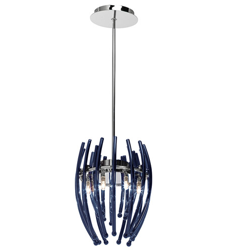 Access Lighting Perseus 7 Light Pendant in Chrome 55523-CH/CLR photo