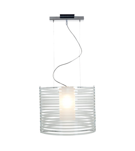 Access 55526-CH/ACLR Enzo 1 Light 16 inch Chrome Pendant Ceiling Light in Clear Acrylic photo