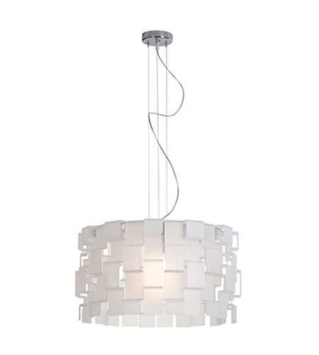 Access Lighting Dinari 1 Light Pendant in Chrome 55528-CH/AFR photo