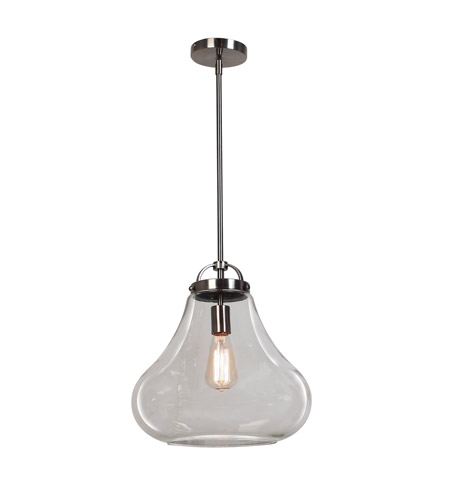 Access 55546-ANCK/CLR Flux 1 Light 13 inch Antique Nickel Pendant Ceiling Light in Clear photo