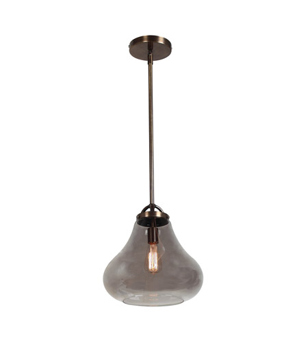 Access 55546-DBRZ/SMK Flux 1 Light 13 inch Dark Bronze Pendant Ceiling Light in Smoke photo
