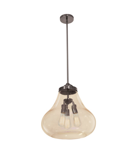 Access 55547-DBRZ/AMB Flux 3 Light 15 inch Dark Bronze Pendant Ceiling Light in Amber photo