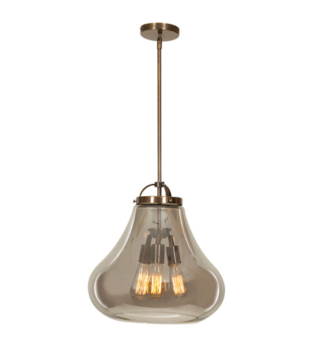 Access 55547-DBRZ/SMK Flux 3 Light 15 inch Dark Bronze Pendant Ceiling Light in Smoke photo