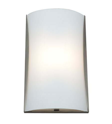 Access 62050LEDD-BS/CKF Radon LED 9 inch Brushed Steel ADA Wall Sconce Wall Light in Checkered Frosted photo