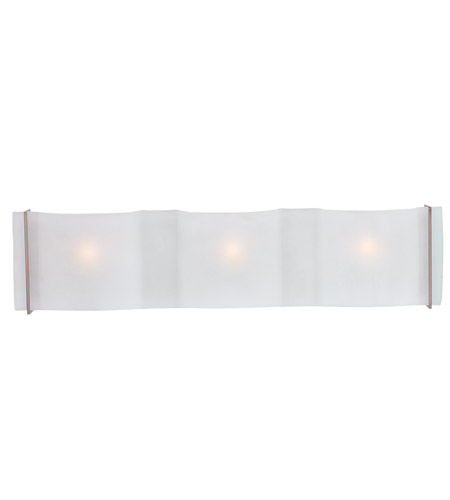 Access 62068-BS/FST Mercury 3 Light 22 inch Brushed Steel Vanity Wall Light in  22.25 inch photo