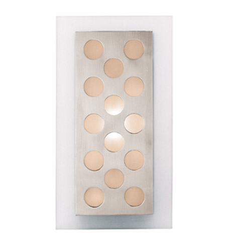 Access Lighting Aquarius 1 Light Sconce in Brushed Steel 62094-BS/FST photo
