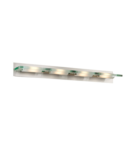 Access 62099-BS/12C Phoebe 4 Light 44 inch Brushed Steel Vanity Wall Light in  43.5 inch photo