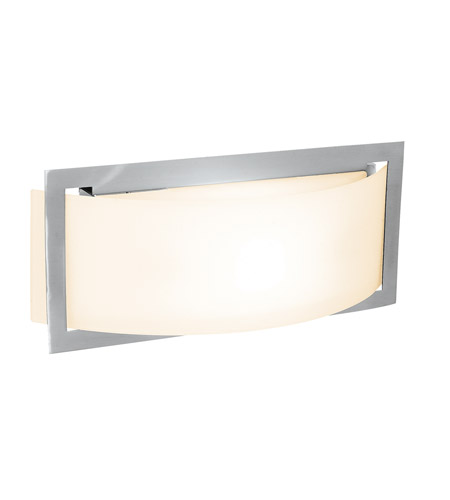 Access C62104BSOPLEN1113BS Argon 1 Light 12 inch Brushed Steel Vanity Wall Light photo