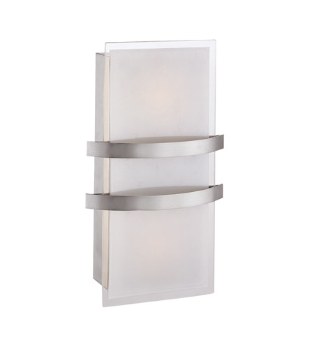 Access Lighting Metro 1 Light Sconce in Brushed Steel 62218-BS/OPL photo