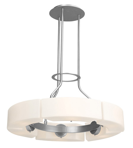Access Lighting Boron 6 Light Chandelier in Brushed Steel 62226-BS/OPL photo