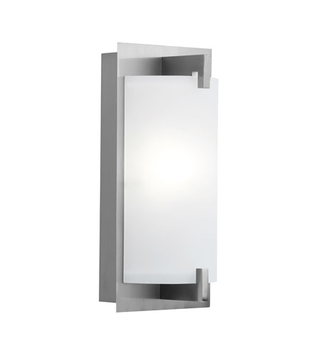 Access C62236BSOPLEN1118Q Bo 1 Light 6 inch Brushed Steel Vanity Wall Light photo