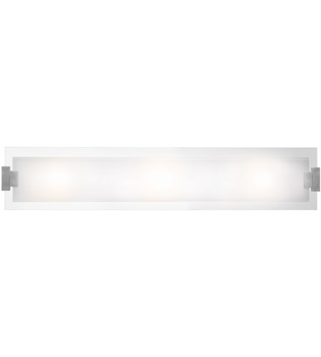Access 62257-BS/FST Plasma 3 Light 24 inch Brushed Steel Vanity Wall Light in  36 inch photo