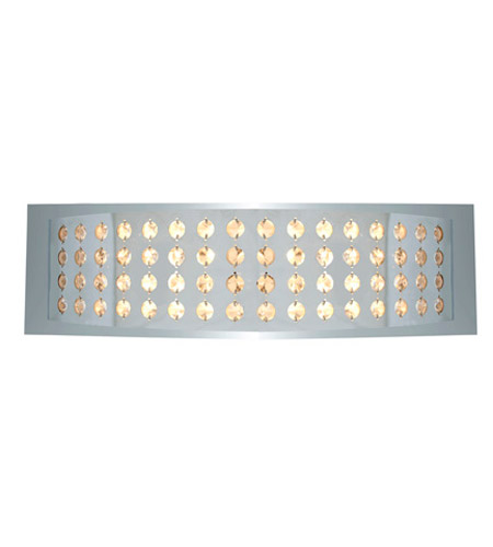 Access Lighting Aura 2 Light Crystal and Chrome Wall/Vanity in Chrome with Crystal Accents Glass 62272-CH/CRY photo