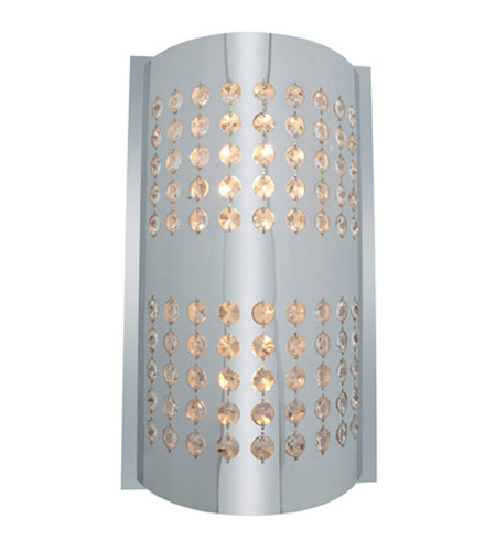 Access Lighting Aura 2 Light Crystal and Chrome Wall/Vanity in Chrome with Crystal Accents Glass 62274-CH/CRY photo