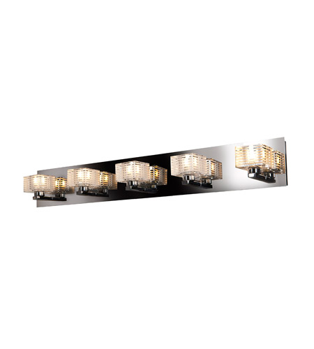 Access 62284-CH/CLFR Sophie 5 Light 33 inch Chrome Vanity Light Wall Light photo