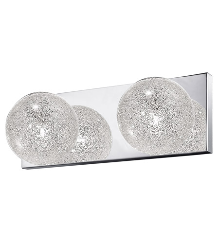 Access 62322LED-MSS/CLR Opulence LED 13 inch Mirrored Stainless Steel Vanity Light Wall Light photo