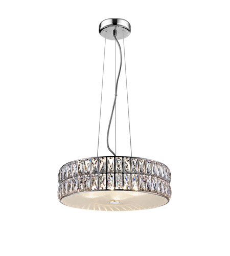 Access 62358ledd Mss Cry Magari Led 15 Inch Mirrored Stainless Steel Pendant Ceiling Light