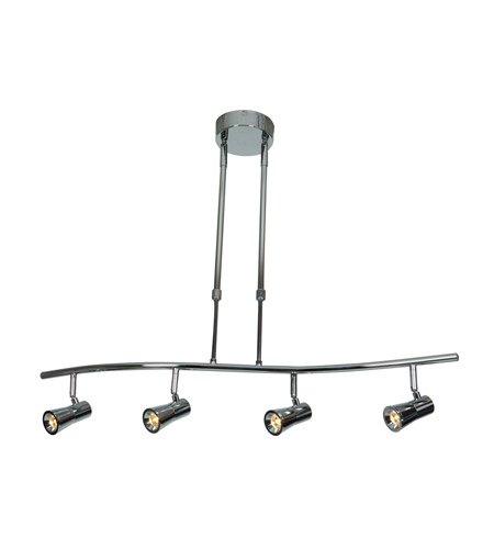 Access 63424LEDD-CH Sleek 4 Light 120V Chrome Track Lighting Ceiling Light photo