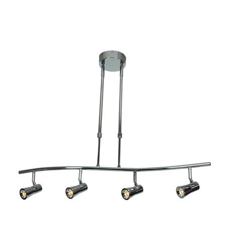 Access 63424ledd Ch Sleek 4 Light 120v Chrome Track Lighting Ceiling