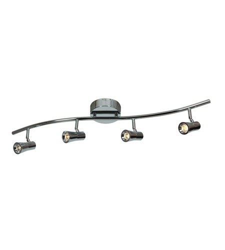 Access 63427LEDD-CH Sleek 4 Light 120V Chrome Track Lighting Ceiling Light photo