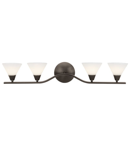 Access Lighting Rumba 4 Light Wall & Vanity in Matte Chrome 63704-MC/AMB photo