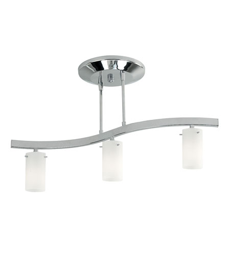 Access Lighting Classical 3 Light Semi-Flush in Matte Chrome 63903-MC/AMB photo