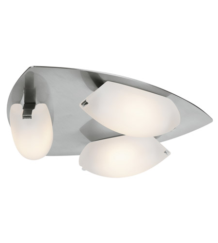 Access Lighting Nido 3 Light Flush Mount in Matte Chrome 63953LED-MC/FST photo