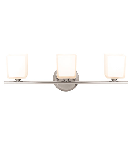 Access Lighting Hermes 3 Light Vanity in Brushed Steel 64003-BS/OPL photo