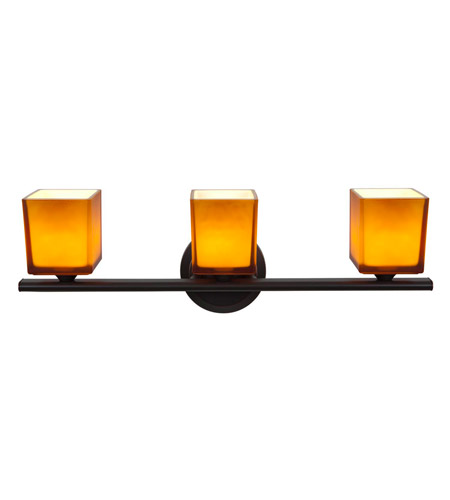 Access Lighting Hermes 3 Light Vanity in Oil Rubbed Bronze 64003-ORB/AMB photo
