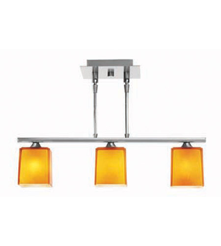 Access Lighting Hermes 3 Light Pendant in Brushed Steel 64013-BS/AMB photo
