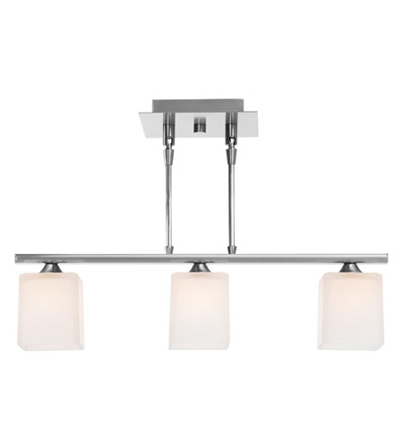 Access Lighting Hermes 3 Light Pendant in Brushed Steel 64013-BS/OPL photo