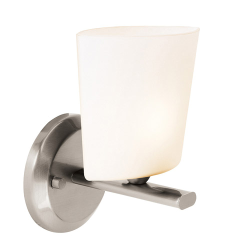 Access Lighting Thea 1 Light Vanity in Brushed Steel 64031-BS/OPL photo