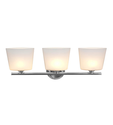 Access Lighting Thea 3 Light Vanity in Brushed Steel 64033-BS/OPL photo