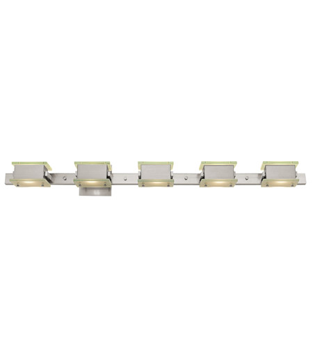 Access Lighting Celestial Vega 5 Light Wall & Vanity in Brushed Steel 64055-BS/8CL photo