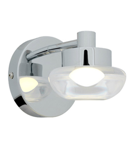 Access Lighting Dewdrop 1 Light Vanity in Chrome with CLFR Glass 70041LED-CH/CLFR photo