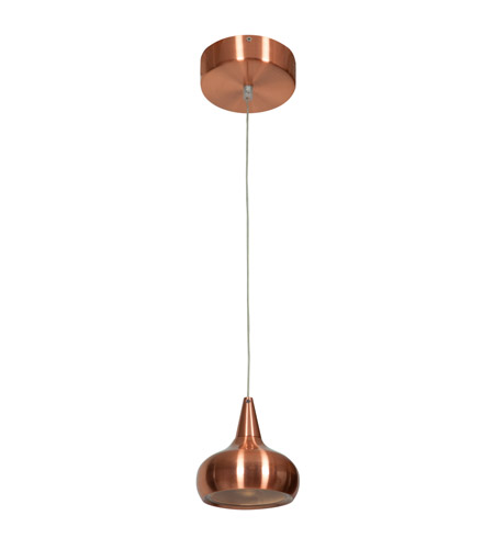 Access 70065LED-BCP/ACR Essence LED 5 inch Brushed Copper Pendant Ceiling Light photo