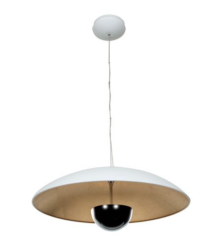 Access 70074LEDD-WH/SILV Pulsar LED 24 inch White and Silver Pendant Ceiling Light photo