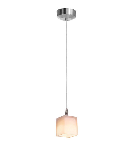 Access 72918-BS/OPL Tungsten LED 4 inch Brushed Steel LED Mini-Pendant Ceiling Light in Opal, Incandescent photo